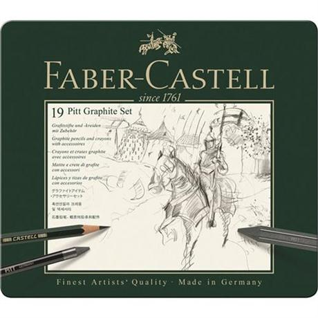 Faber Castell Pitt Graphite Set of 19 items Image 1