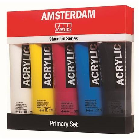 Amsterdam All Acrylics Standard Primary Set 5 x 120ml Image 1