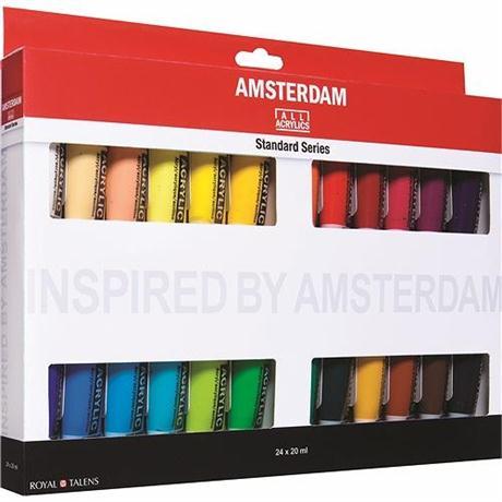 Amsterdam All Acrylic Standard Set 24x20ml Image 1
