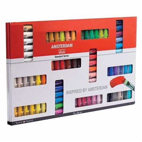 Amsterdam Acrylic Standard Set 72x20ml Image 1