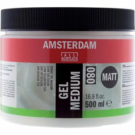Amsterdam Acrylic Gel Medium Matt 500ml Image 1
