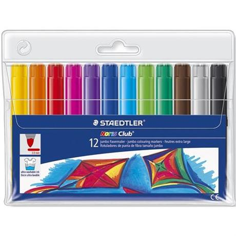 Noris Club Jumbo Colouring Markers Set of 12 Image 1