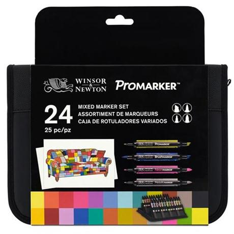Winsor & Newton ProMarker Assorted Marker Wallet of 24 Image 1