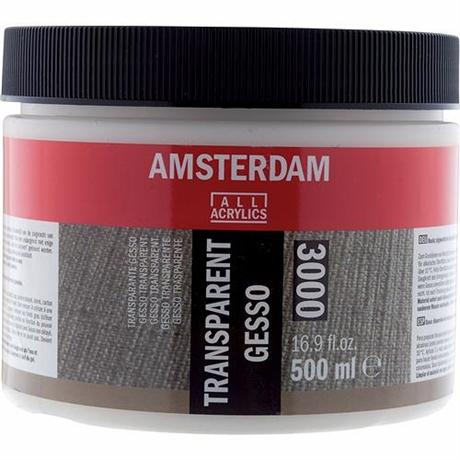 Amsterdam Acrylic Transparent Gesso Image 1