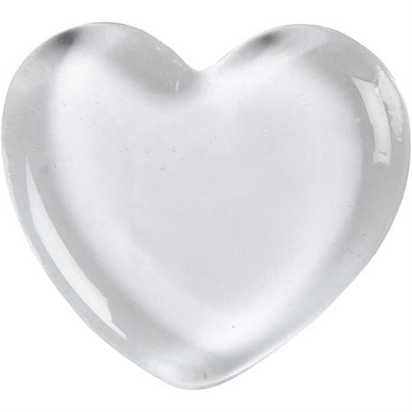 Solid Glass Heart 5cm Image 1