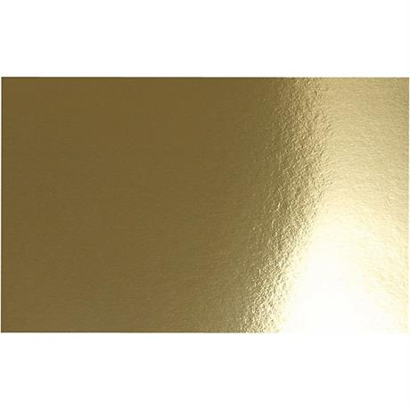 Double-sided Metallic Foil Card A4 Gold Pack of 10 280gsm Image 1
