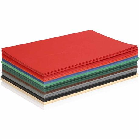 Colortime A5 Assorted Christmas Coloured Card 180gsm (Pack of 60) Image 1