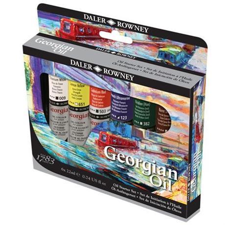 Daler Rowney Georgian Oil Paint Starter Set Image 1