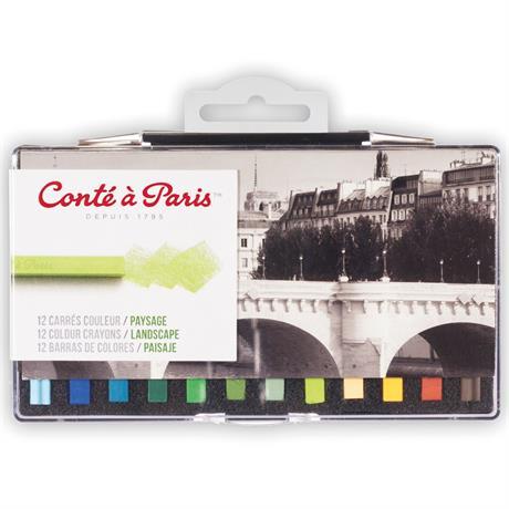 Conte Carres 12 Landscape Set Image 1