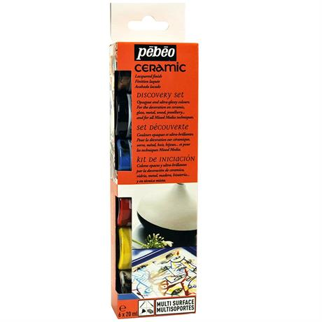Pebeo Ceramic Discovery Set 6 x 20ml Image 1