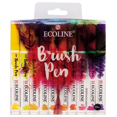 Ecoline Brush Pen Set Of 20 Image 1