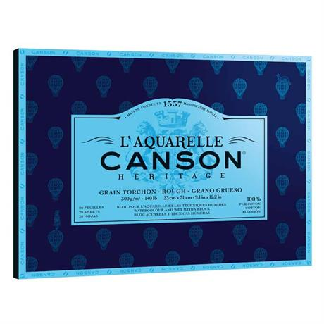 Canson Heritage Watercolour Block Rough 140lbs Image 1