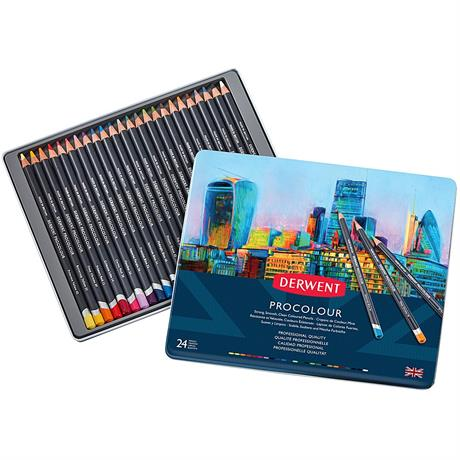 Derwent Procolour Pencils Tin Of 24 Image 1