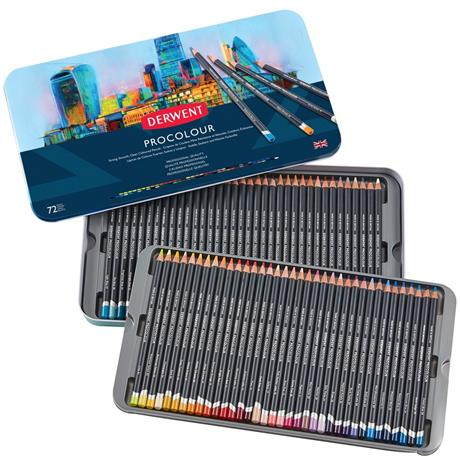 Derwent Procolour Pencils Tin Of 72 Image 1