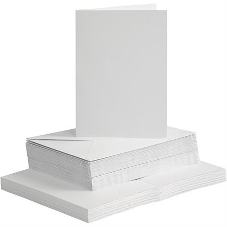 The Creativ Co. A6 Card & Envelope Pack x 50 White