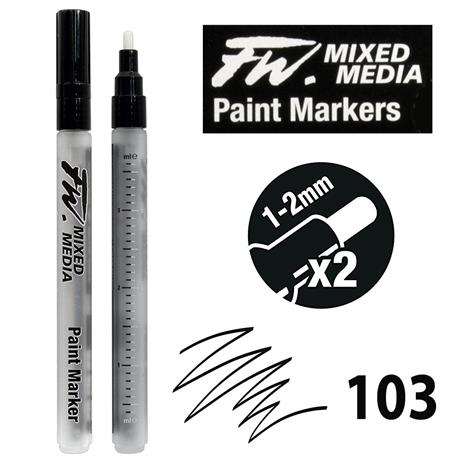 FW Mixed Media Paint Marker Set Small 1-2mm Round 103 Image 1