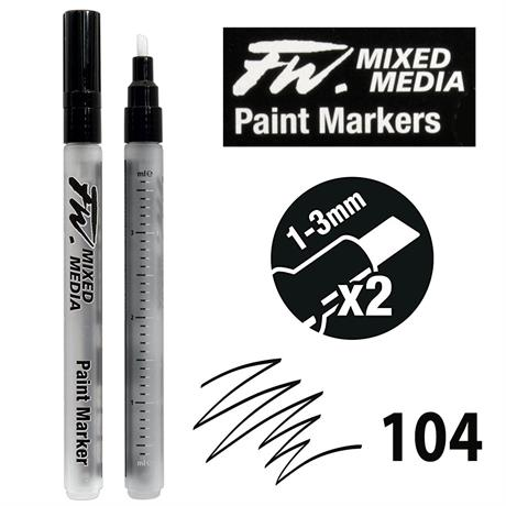 FW Mixed Media Paint Marker Set 1-3mm Chisel 104 Image 1