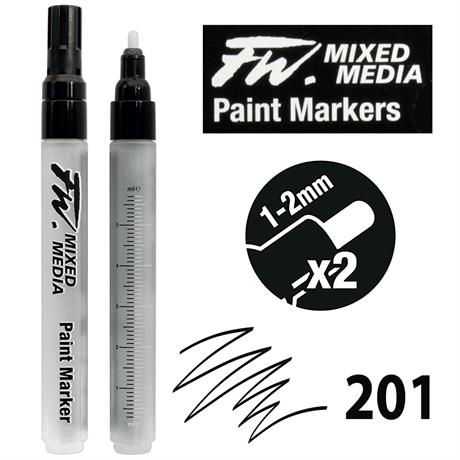 FW Mixed Media Paint Marker Set Medium 1-2mm Round 201 Image 1