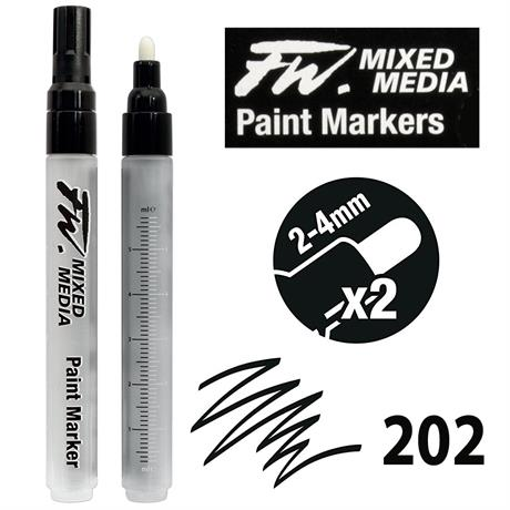 FW Mixed Media Paint Marker Set 2-4mm Round 202 Image 1