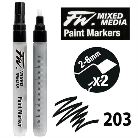 FW Mixed Media Paint Marker Set 2-6mm Chisel 203 Image 1
