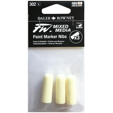 FW Mixed Media Paint Marker Nibs 3-6mm Round x 3 Image 1