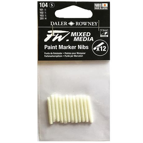 FW Mixed Media Paint Marker Nibs 1-3mm Chisel x 12 Image 1