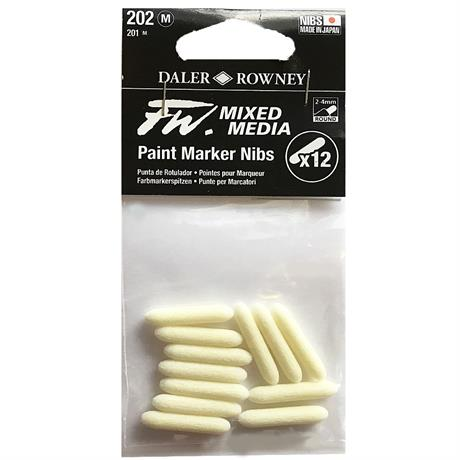 FW Mixed Media Paint Marker Nibs 2-4mm Round x 12 Image 1
