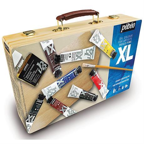 Pebeo Studio XL Oil Paint Starter Kit Wooden Box Image 1