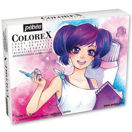Pebeo Colorex Manga Ink Kit Image 1