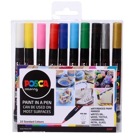 POSCA PCF-350 Set Of 10 Pens Image 1
