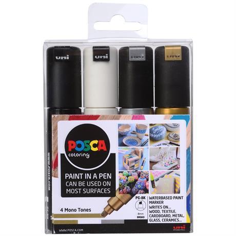 POSCA PC-8K Mono Tones Pack Of 4 Pens Image 1