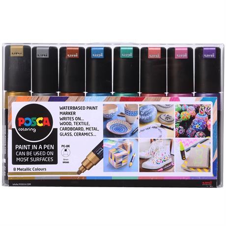 POSCA PC-8K Metallic Set Of 8 Pens Image 1