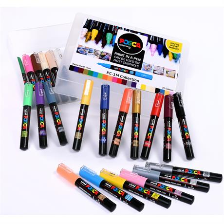 POSCA PC-1M Collection Pack Of 22 Pens Image 1