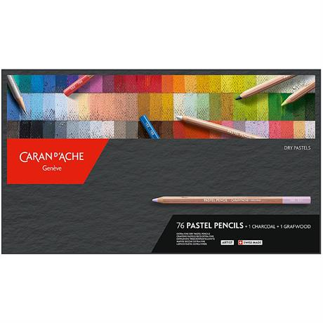 Caran d Ache Pastel Pencils 76 Assorted Set Image 1
