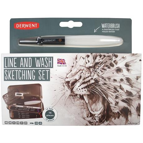 Derwent Sketching Line & Wash Set Image 1