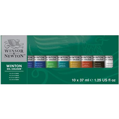 Winton Oil Paint Starter Set 10x37ml Image 1