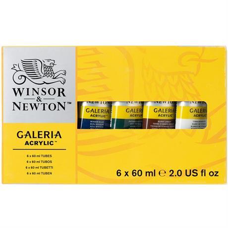 Galeria Acrylic Paint Set 6 x 60ml Tubes Image 1
