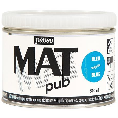 Pebeo MAT Pub Acrylic Paint 500ml Image 1