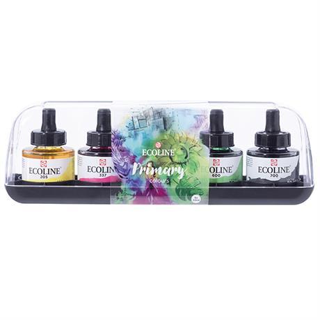 Ecoline Liquid Watercolour Ink Primary Set 5 x 30ml Image 1