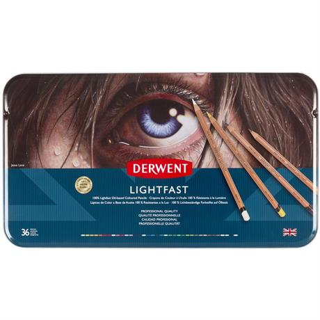 Derwent Lightfast Pencils 36 Tin Image 1