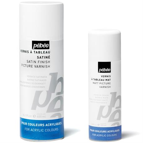 Pebeo Artist Acrylics Solvent Based Spray Varnishes Image 1