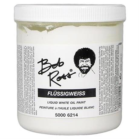 Bob Ross Liquid White 500ml Image 1