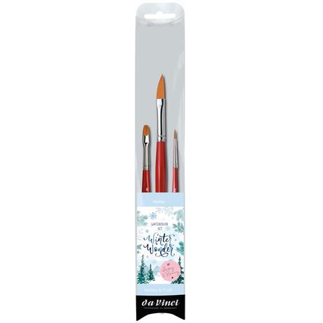 da Vinci Winter Wonderland Watercolour Brush Set Image 1