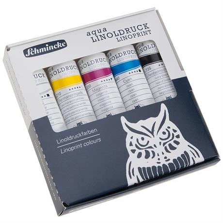 Schmincke LINOPRINT Basic Colour Set 5 x 20ml Tubes Image 1