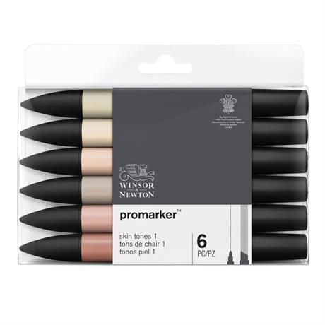 Winsor & Newton ProMarker 6 Skin Tones Set 1 Image 1