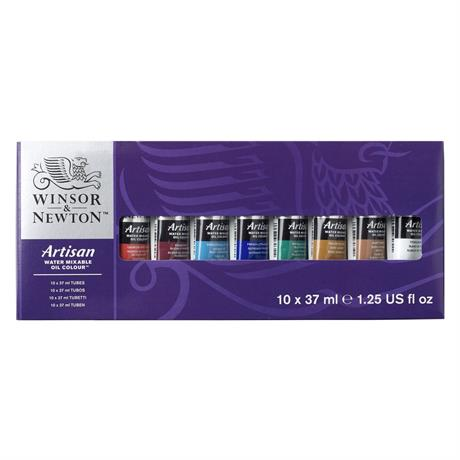 Artisan Water Mixable Oil Paint 10 x 37ml Tube Set Image 1
