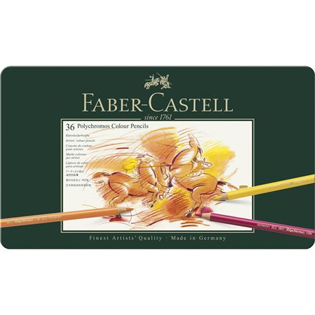 Faber Castell Polychromos Pencils Tin of 36 Image 1