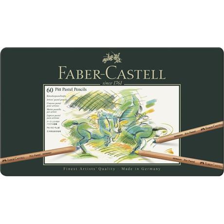 Faber Castell Pitt Pastel Pencil Tin of 60 Image 1