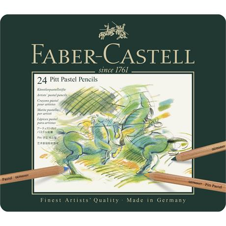 Faber Castell Pitt Pastel Pencil Tin of 24 Image 1