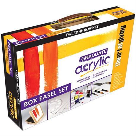 Daler Rowney Graduate Acrylic Easel Box Set Image 1